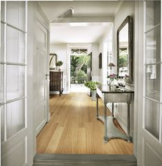 Whether a grand entranceway or a modest mud room, any area of the home that leads to the outside world needs smart but practical flooring. Cost Of Wood Flooring, Hall Flooring, Kahrs Flooring, Country House Interior, Country Homes, Engineered Wood Floors, Luxury Vinyl Tile, English House, House And Home Magazine