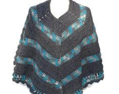 Open Poncho Shawl Crochet Pattern Crochet Cape Wrap Poncho
