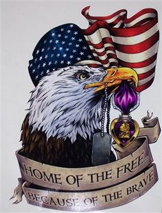 Details about American Flag Eagle Purple Heart decal Camper RV mural graphic Sticker decals American Flag Drawing, Patriotic Pictures, American Flag Pictures, 4th Of July Images, Eagle Drawing, Military Drawings, Military Tattoos, American Flag Eagle, Eagle Homes