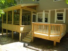 Screened Porches - Structurally SpeakingStructurally Speaking Screened Porch Designs, Screened In Deck, Patio Deck Designs, Screened Porches, Decks And Porches, Patio Design, Porch Addition, Deck Addition Ideas, Mobile Home Deck
