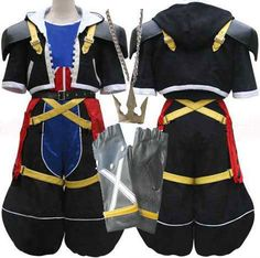 Kingdom hearts sora cosplay costume sora outfit halloween costume - Oasis Costume