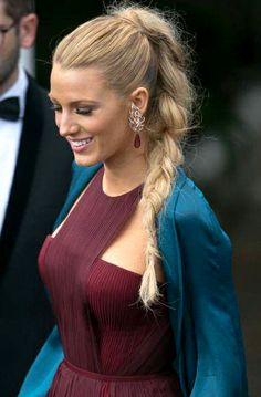Blake Lively in braid hairstyle at the opening ceremony of the 67th Annual Cannes Film Festival 2014 #Cannes2014