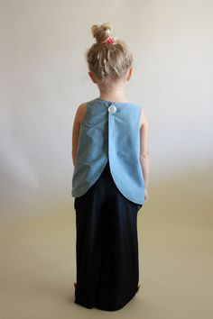tulip pinafore top / pdf sewing pattern 12 months to 5t EASY SEWING $6