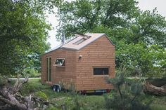Dutch woman's modern tiny house gets approval from local council.  Marjolein In Het Klein.