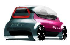Bike Sketch, Car Sketch, Automotive Design, Auto Design, Car Design Sketch, Factory Design, Smart Car, City Car, Illustration Sketches
