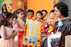 A good teacher's influence extends far beyond the classroom & a few schooling years! Owing to such a charismatic belief of Mrs. Sudha Gupta, it was a splendid sight to see tiny toddlers of Mother's Pride wishing their school's chairperson, a very Happy Teacher's Day! The adorable kids expressed their childlike appreciation & spent a memorable time in her motherly shade.