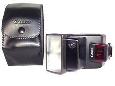 **NEAR MINT**Canon Speedlite 300EZ Shoe Mount Flash w/ Genuine case  From Japan #Canon