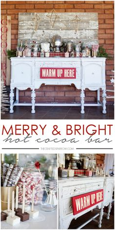 Merry & Bright Hot Cocoa Bar - thecraftedsparrow.com