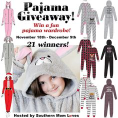 Women's Onesie Pajama Giveaway – 21 Winners