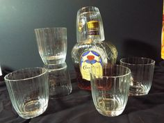 Vintage Crown Royal Von Pok Highball Tumbler Set of by JJsBottega, $49.00
