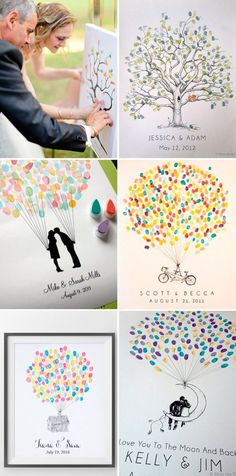 Top 16 ideas for creative & funny wedding guest books - bride - . Top 16 ideas for creative & fun wedding guest books – bride – # Wedding guestbooks Wedding Humor, Wedding Tips, Wedding Details, Diy Wedding, Dream Wedding, Wedding Day, Wedding Sign In Ideas, Trendy Wedding, Thumb Prints