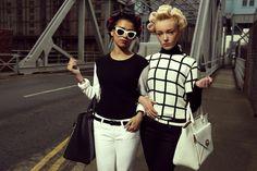 Photograph by Alice Hawkins, Derrin Crawford & Demi-Leigh Cruickshank in 'The Liver Birds' LOVE magazine, Liverpool, 2012