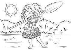 Dibujo para colorear de Vaiana (nº 13)
