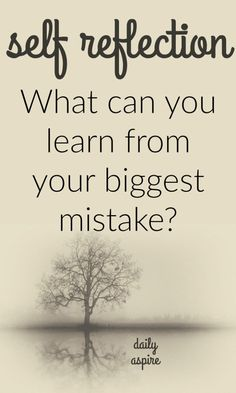 What can you learn from your biggest mistake? Journal prompt.