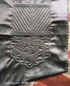 Cutwork Embroidery, Mens Fashion Wear, Free Motion Quilting, Couture, One Color, Crochet, Needlework, Creations, Quilts