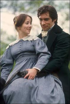 Zelah Clarke (Jane Eyre) & Timothy Dalton (Edward Fairfax Rochester) - Jane Eyre directed by Julian Amyes (TV mini-series, 1983) #charlottebronte