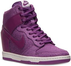 Nike Women's Dunk Sky Hi Textile Casual Sneakers from Finish Line on shopstyle.com
