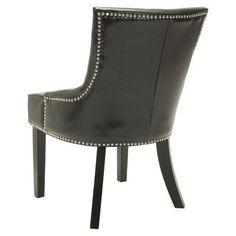 Lotus Side Chair Wood/Black (Set of 2) - Safavieh