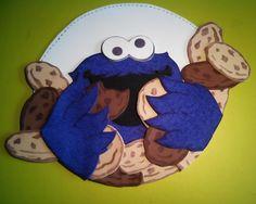 Cartel monstruo de las galletas