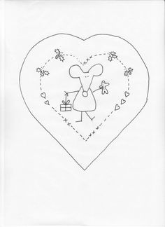 ❤︎ 'mouse in your house' - en julemus til ditt hus - mønster. Hand Embroidery Patterns, Embroidery Applique, Cross Stitch Embroidery, Quilt Patterns, Embroidery Designs, Primitive Embroidery, Primitive Stitchery, Christmas Sewing, Christmas Embroidery