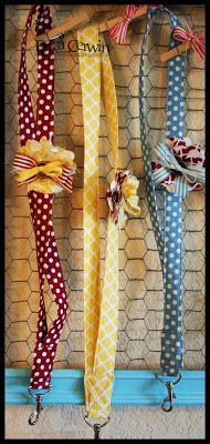 Fabric Designs Fabric Lanyards Tutorial~ I'm also strangely obsessed with ribbon! This is a must do craft for me! Ribbon Crafts, Fabric Crafts, Sewing Crafts, Sewing Projects, Craft Projects, Cute Crafts, Crafts To Make, Arts And Crafts, Diy Crafts