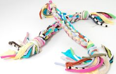 Make a dog toy from braided t-shirts. | 26 DIYs Your Pet Will Totally Appreciate