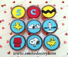Cupcakes Snoopy!  curta nossa página no Facebook: www.facebook.com/sonhodocerj