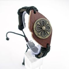 Mosuo Ethnic Group Handmade Leather Bracelet with Hemp