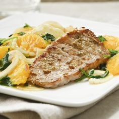 Fennel-crusted pork chops with a warm citrus-and-fennel salad is a terrific antidote to a dreary winter day. Serve with crusty whole-grain bread or brown rice.