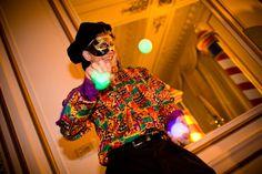 A juggler performs at Perforce Software's Venetian Ball.