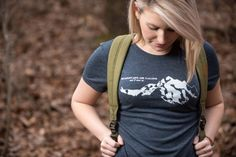 The Mountains Are Calling Women's Tshirt by EverlastingClothing