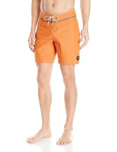 9073a627b6 Quiksilver Mens Classic Yoke Swim Board Shorts , Orange , Size 36 # Quiksilver #BoardShorts