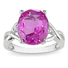 #jewelry #giftideas #Fashionnews #Womensfashion #Womensstyle #Fashion #Accessories #Gifts 7 Carat Pink Topaz Diamond Fashion Ring Sterling