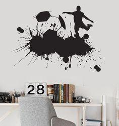 Vinyl Wall Decal Soccer Sports Fan Kids Boys Room Garage Decor Stickers (048ig)