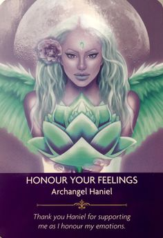 Archangel Haniel - from Kyle Gray's Angel Prayers Oracle Cards Archangel Haniel, Archangel Raphael, Kyle Gray, Angel Guidance, Angel Prayers, Oracle Tarot, Angel Cards, Wow Art, Guardian Angels