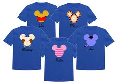 Disney Shirt WINNIE the POOH and FRIENDS by TheMouseBoutique