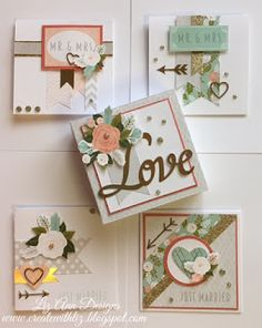 Create with Liz: Hello Lovely Mini Pizza Box Card Set #CTMHHelloLovely