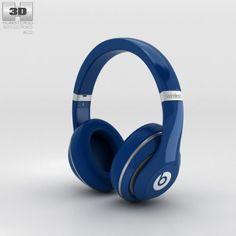 Beats by Dr Dre Studio Wireless Over-Ear Blue 3D Model .max .c4d .obj .3ds .fbx .lwo .stl @3DExport.com by humster3D @3