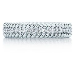 more my style for an engagement/wedding band Schlumberger Rope Two-Row Ring