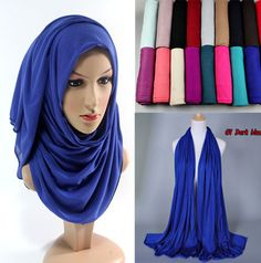 21 color Free shipping Hot Adult Cotton Muslim Hijab The New Turban Jersey Baotou Wholesale Scarf Monochrome Widening High-grade