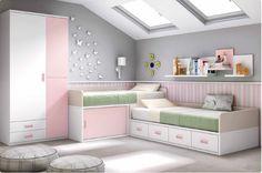 Dormitorio juvenil compacto / Youth bedroom  www.decorhaus.es/es/ #muebles #Málaga #furniture