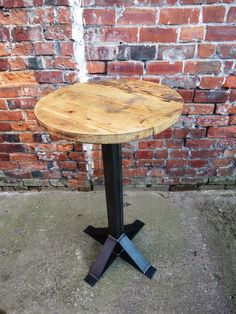 Industrial Chic Reclaimed 2-4 Seater Pedestal Table    $258 !!!  --   Custom Order Size!