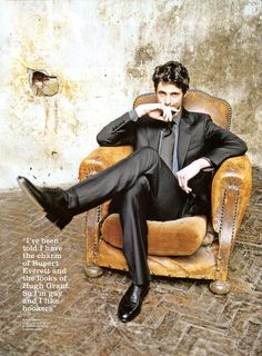 """Mathew Goode - """"ive been told i have the charm of Rupert Everett and the looks of Hugh Grant. so I'm gay and I like hookers."""