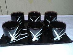 Conjunto de copos com Bandeja