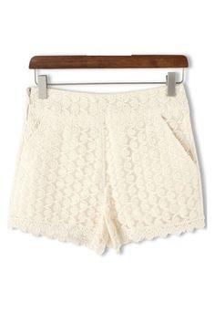 Organza Embroidery Shorts
