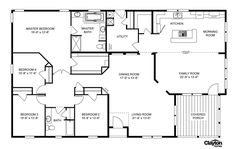 Broken link, but I like this layout. I would switch the laundry room for the middle bedroom.move the fourth bedroom for guests. New House Plans, Dream House Plans, House Floor Plans, 2000 Sq Ft House, Union Gap, Mobile Home Floor Plans, Broken Link, Modular Home Floor Plans, Clayton Homes