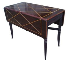 Tommi Parzinger Drop Leaf Extension, Mahogany Dining Table