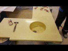 Раковины из искусственного мрамора (Как это работает) - YouTube