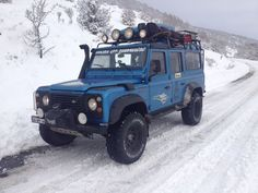 Land Rover Defender 110 Td5 Sw Se County Camper Adventure in snow journey.