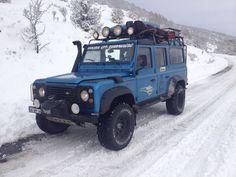 Land Rover Defender 110 Td5 Sw Se County Camper Adventure in snow journey.